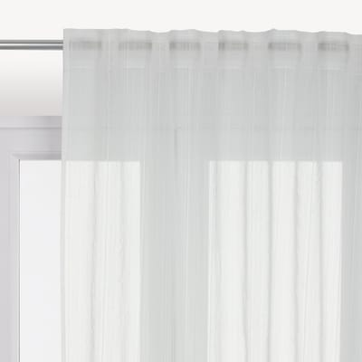 Tenda di pizzo INSPIRE Lolita bianco nastro tenda con anse nascoste 300.0x280.0 cm
