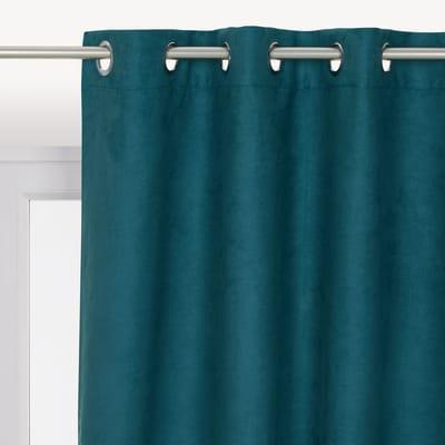Tenda INSPIRE New Manchester azzurro occhielli 140 x 280 cm