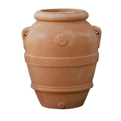 Orcio Imprunetino in terracotta colore cotto H 110 cm, L 100 x P 100 cm
