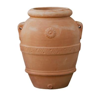 Orcio Imprunetino in terracotta colore cotto H 80 cm, L 70 x P 70 cm