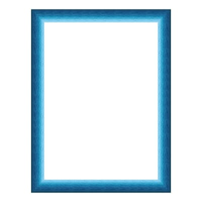 Cornice INSPIRE Bicolor azzurro per foto da 30x30 cm