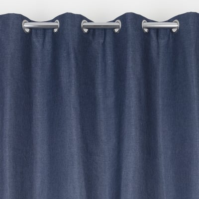 Tenda Oscurante Copenhague blu occhielli 135x280 cm