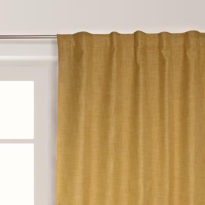 Tenda Oscurante Ignifugo Lin giallo fettuccia con passanti nascosti 140 x 300 cm
