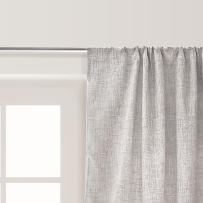 Tenda Oscurante Notturni grigio fettuccia con passanti nascosti 140x300 cm