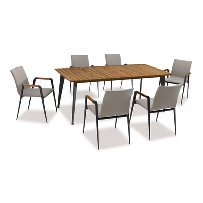 Tavolo da pranzo per giardino rettangolare Cosmo NATERIAL in legno L 200 x P 100 cm