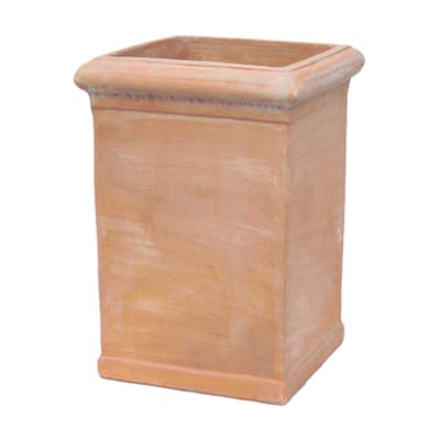 Vaso Pilone liscio in terracotta colore cotto H 70 cm, L 52 x P 52 cm