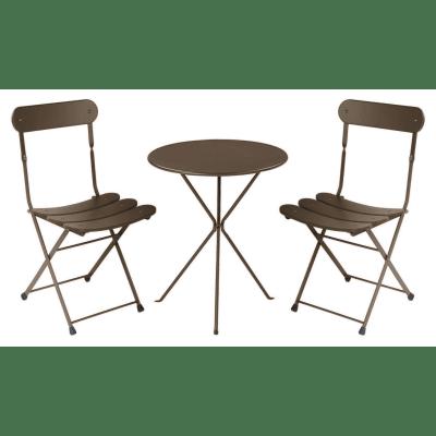 Tavolo da pranzo per giardino rotondo Gueridon in acciaio