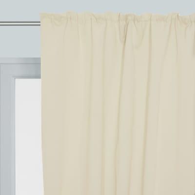 Tenda Oscurante avorio fettuccia con passanti nascosti 140x350 cm