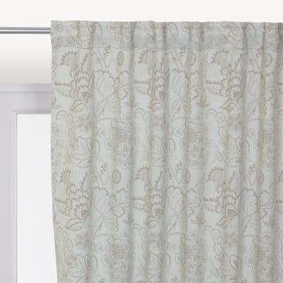 Tenda INSPIRE Oscurante Flowers grigio arricciatura 140 x 280 cm