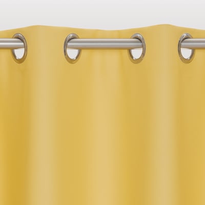 Tenda INSPIRE Oscurante giallo anelli 140x280 cm