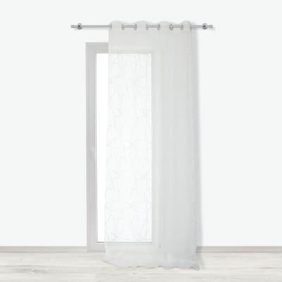 Tenda Melida bianco occhielli 140x290 cm