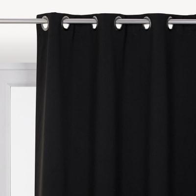 Tenda INSPIRE Oscurante nero occhielli 140x280 cm