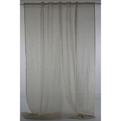 Tenda Micao beige fettuccia con passanti nascosti 145x295 cm