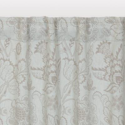Tenda INSPIRE Oscurante Flowers grigio tape raccogliendo 140.0x280.0 cm