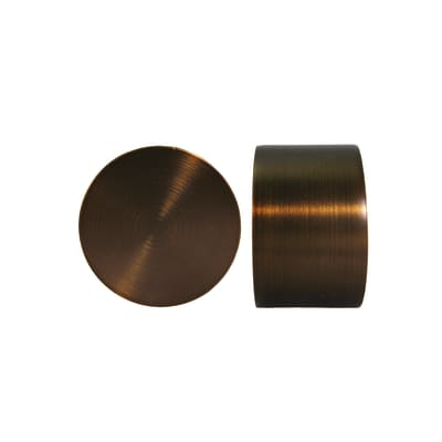 Finale per bastone Ø25mm Tago tappo in metallo verniciato Set di 2 pezzi