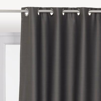 Tenda INSPIRE Oscurante grigio anelli 140 x 280 cm