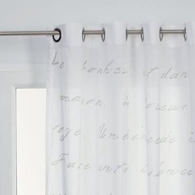 Tenda Harmonie bianco occhielli 140 x 280 cm