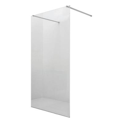Doccia walk in progress L 140, H 195 cm, vetro 8 mm trasparente argento