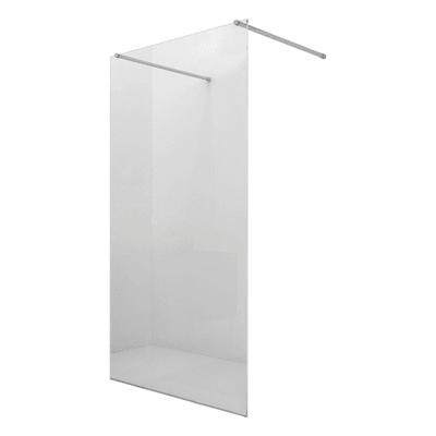 Doccia walk in progress L 100, H 195 cm, vetro 8 mm trasparente argento