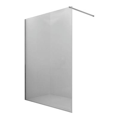Doccia walk in progress L 90, H 195 cm, vetro 8 mm trasparente argento