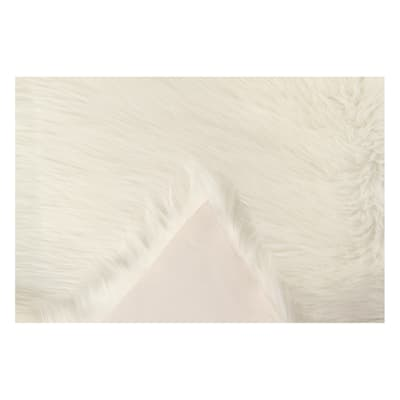 Tappeto Mongolia eco bianco 120x75 cm