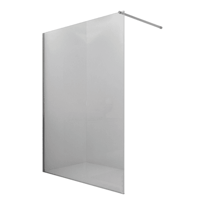 Doccia walk in progress L 80, H 195 cm, vetro 8 mm trasparente argento