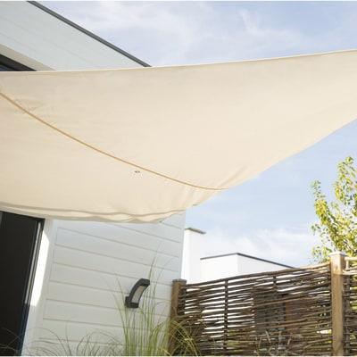 Vela ombreggiante triangolare ecru 360 x 360 cm