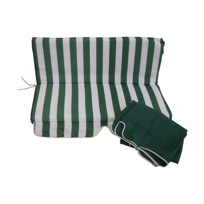 Cuscino bianco e verde 110x80 cm, 2 pezzi