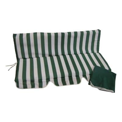Cuscini Per Dondolo Cm 130.Cuscino Bianco E Verde 110x130 Cm 2 Pezzi Prezzi E Offerte Online