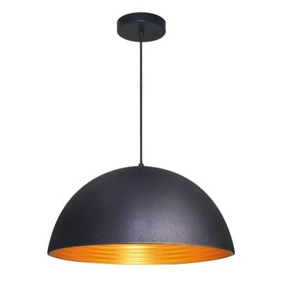 Lampadario Judson oro, nero, in ferro, diam. 40 cm, E27 MAX60W IP20 INSPIRE