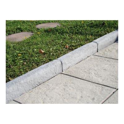 Cordolo in calcestruzzo grigio L 50 x H 7 cm Sp 10 cm