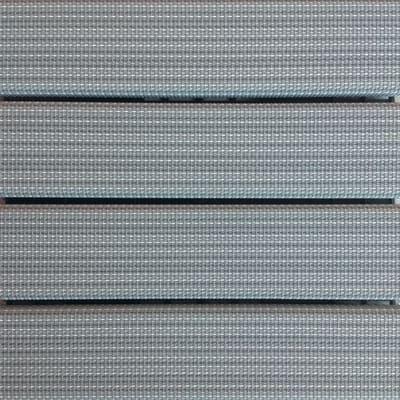 Piastrelle ad incastro Piastrella ad incastro plastica woven 30 x 30 cm, Sp 32 mm colore grigio