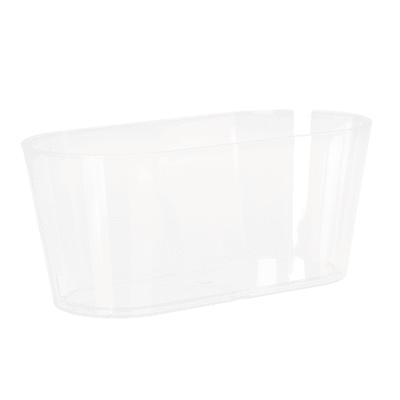 Fioriera Porto in plastica colore trasparente H 13 cm, L 30 x P 14 cm