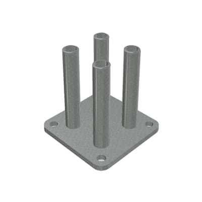 Supporto per palo Mosaic in acciaio galvanizzato da avvitare grigio L 10x H 10