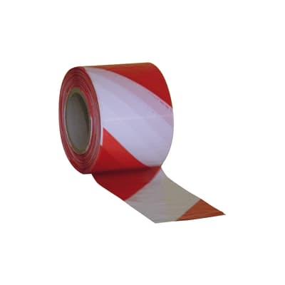 Nastro segnaletico rosso e bianco 70 mm x 200 m