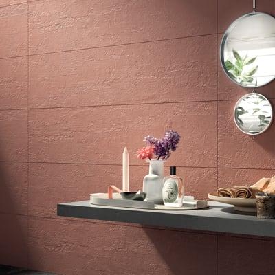 Piastrella Shabby 30 x 120 cm sp. 9 mm PEI 4/5 rosso