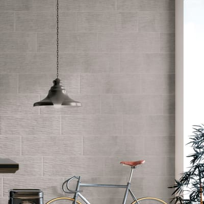 Piastrella per rivestimenti Decor london 25 x 75 cm sp. 9 mm grigio