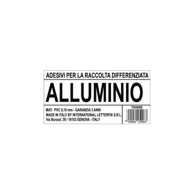 Cartello segnaletico Raccolta diff. alluminio vinile 12 x 6 cm