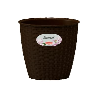 Vaso Natural STEFANPLAST in plastica colore Marrone H 17.5 cm, L 19 x Ø 19 cm