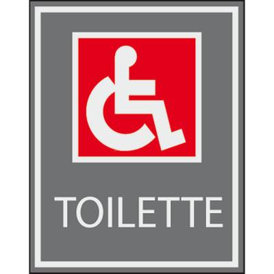 Cartello segnaletico Toilette h vinile 7 x 8.5 cm