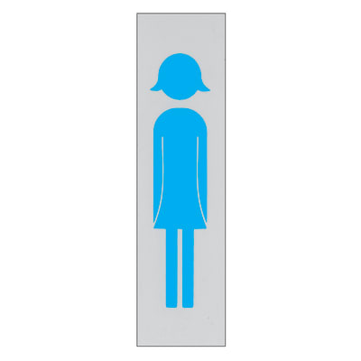 Cartello segnaletico Donna polipropilene 15 x 4 cm