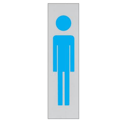 Cartello segnaletico Uomo polipropilene 15 x 4 cm