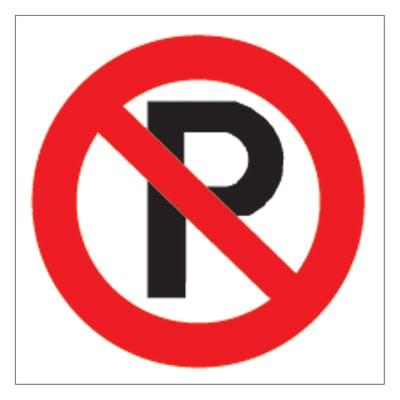 Cartello segnaletico Divieto parcheggio vinile 17 x 17 cm