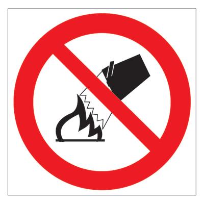 Cartello segnaletico No uso acqua vinile 17 x 17 cm
