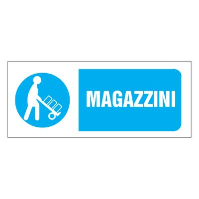 Cartello segnaletico Magazzini pvc 31 x 14 cm