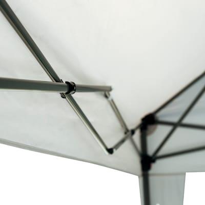 Pergolato e pergola in acciaio Eori ecru 200 cm x 2.4 m x 300 cm
