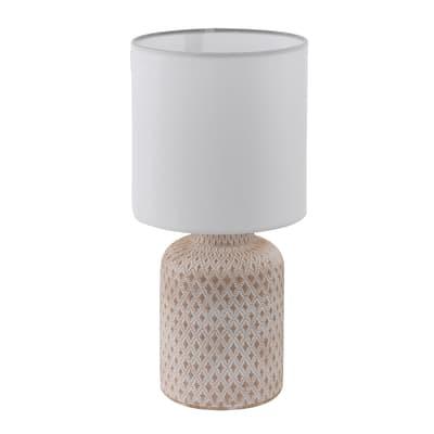 Lampada da comodino Shabby Bellariva bianco, in metallo, EGLO