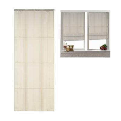 Tendina vetro Ecru crema passanti nascosti 60 x 170 cm