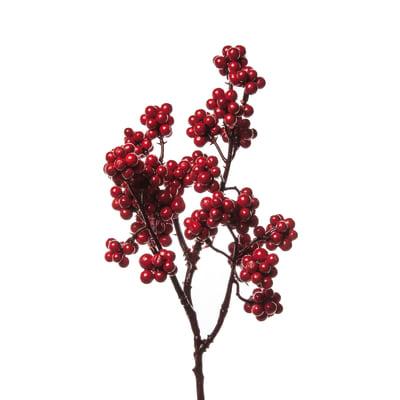 Decorazione per albero di natale Ramo bacche in pvc x P 10 cm,