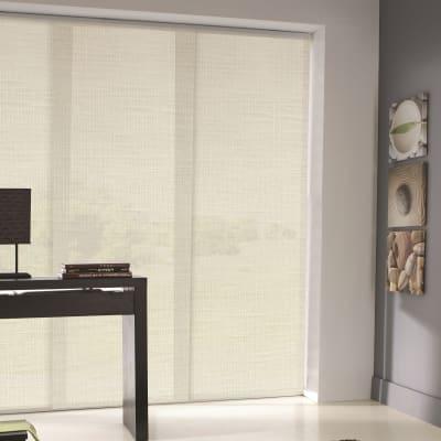 Pannello giapponese resinato effetto lino bianco bianco 60x300 cm